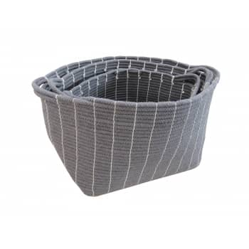 Win a Set Of 3 Grey Rope Storage Baskets worth £75!