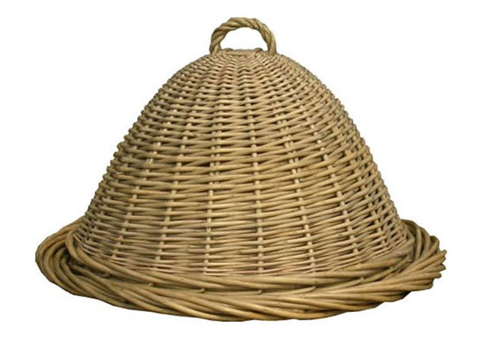 Wicker Food Dome For Picnics