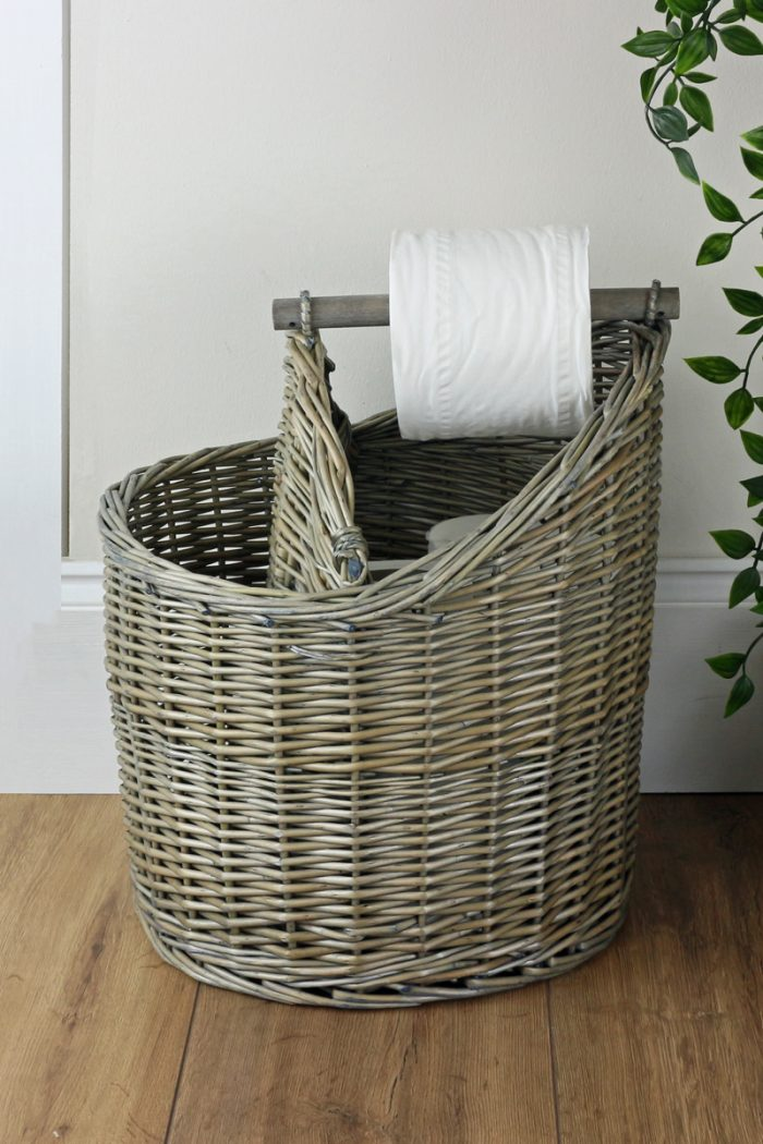 Antique Wash Toilet Roll Holder | The Basket Company