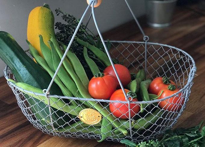 Burgon & Ball Grey Wire Mesh Basket