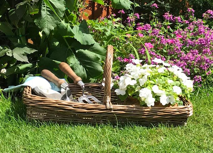 Kew Antique Wicker Trug Basket
