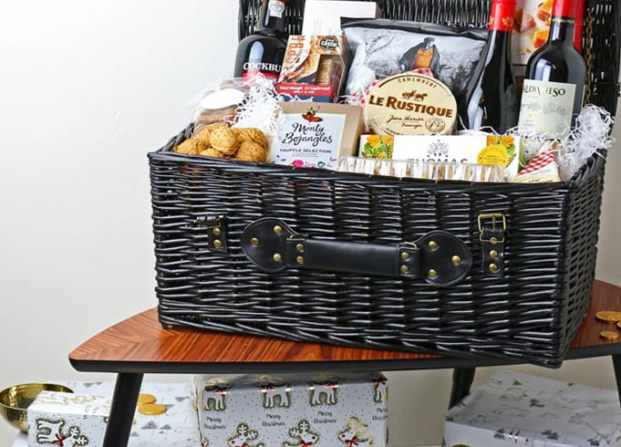 Black Wicker Storage Hamper Basket