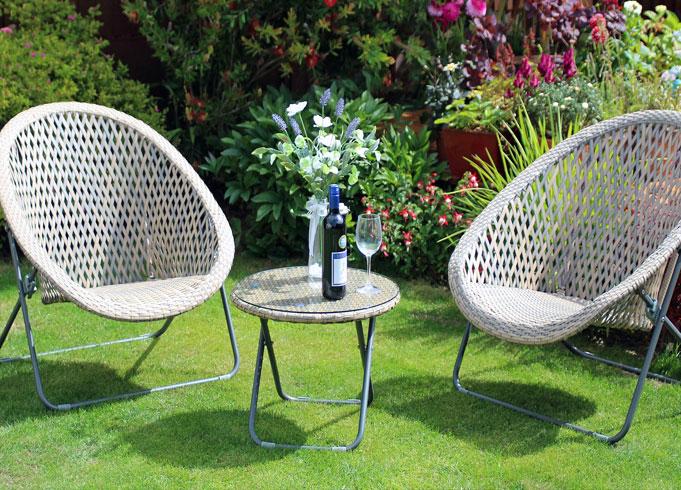 Rattan Table And Chair Set
