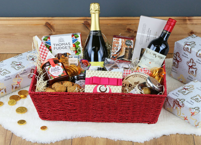 Red Rope Hamper Tray Basket