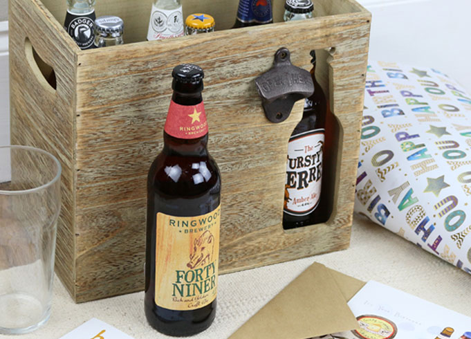 Wooden Beer Storage Crate