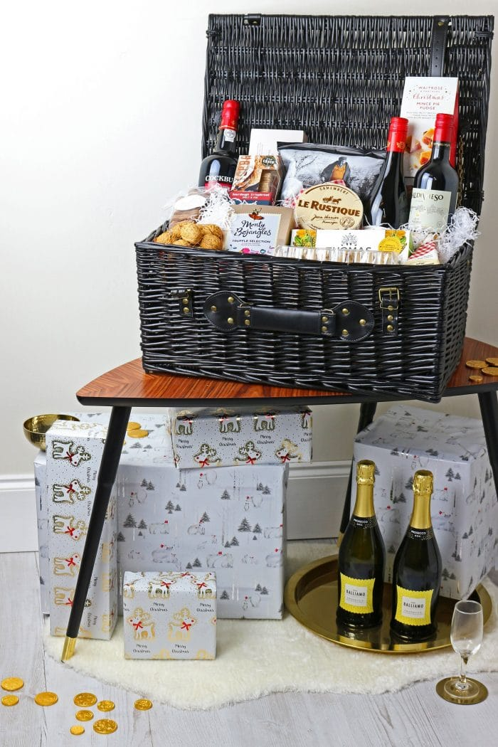 Black Wicker Storage Hamper