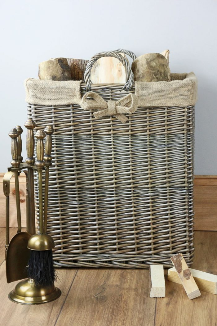 Antique Wash Log Basket