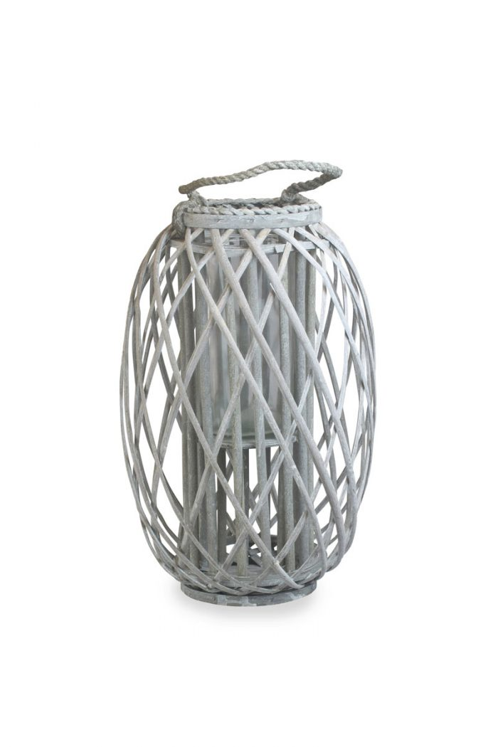 Grey Wash Willow Lantern