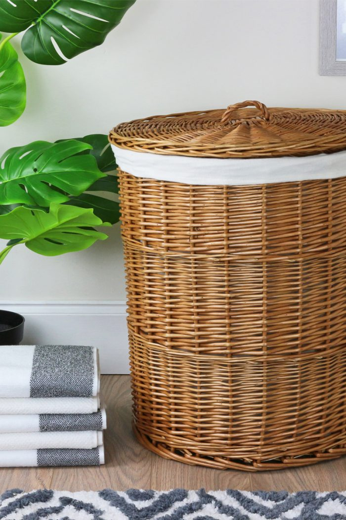 Round Natural Laundry Basket | The Basket Company