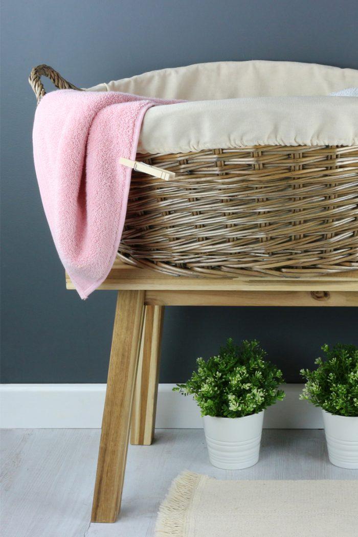 Antique Wash Wicker Washing Basket