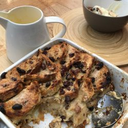 Hot Cross Bun Bread & Butter Pudding