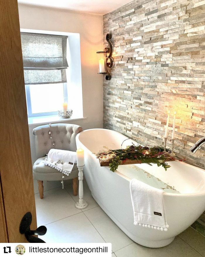Featured This Month | Little Stone Cottage On A Hill Bathroom
