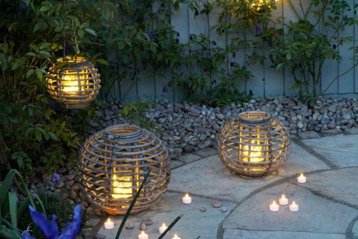 Grey Willow Gardening Lanterns