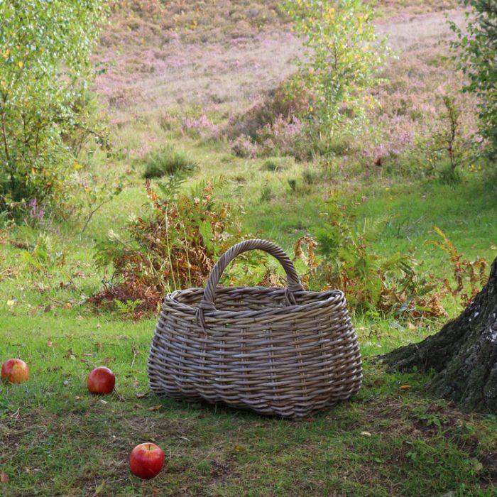 Grey & Buff Market Basket