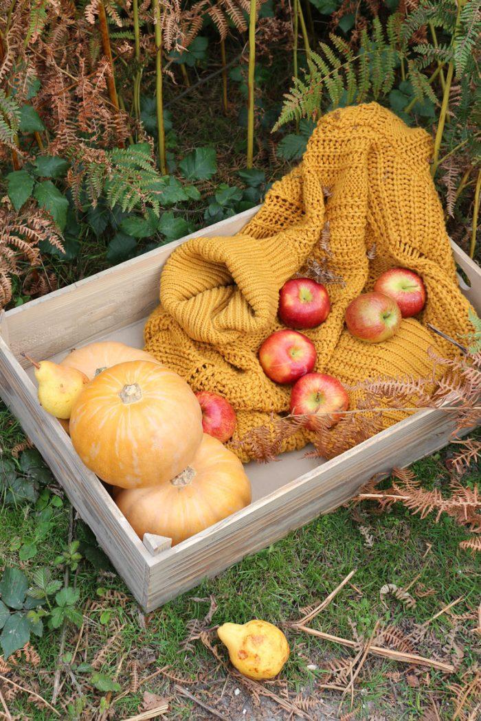 Oak Affect Apple Shallow Crate