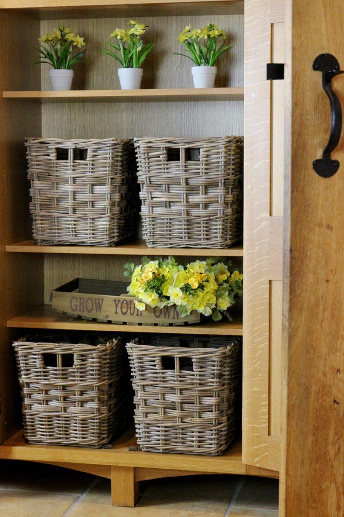 Mixed Weave Cube Storage Basket | The Basket Company