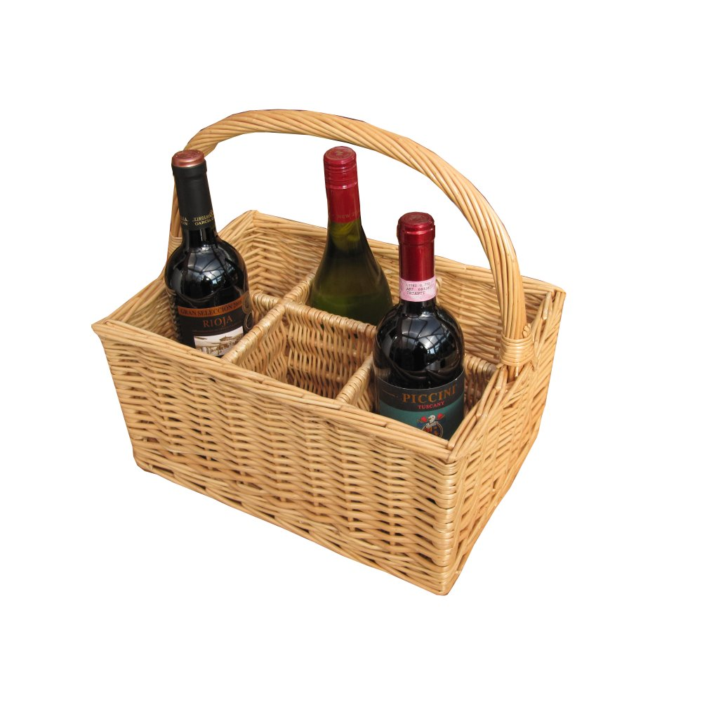 Buy 6 Bottle Wicker Wine Carrier Basket Online From The
