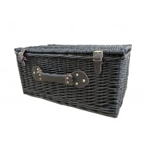 Black Wicker Storage Trunk | Hamper Basket