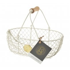 Burgon & Ball Cream Wire Mesh Basket