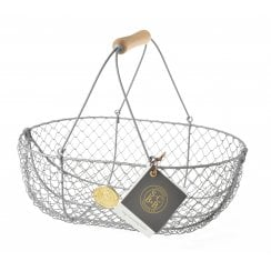Burgon & Ball Grey Wire Mesh Basket