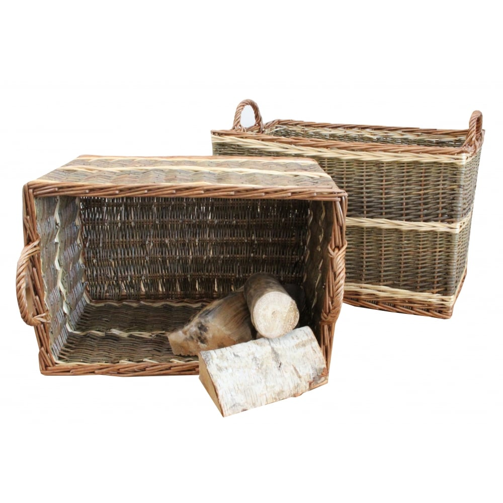 Buy Melbury Rectangular Wicker Storage Basket From The: Buy Buttermere Rectangular Wicker Log Basket From The