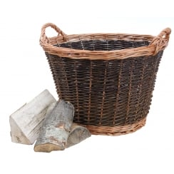 Classic Round Wicker Log Basket