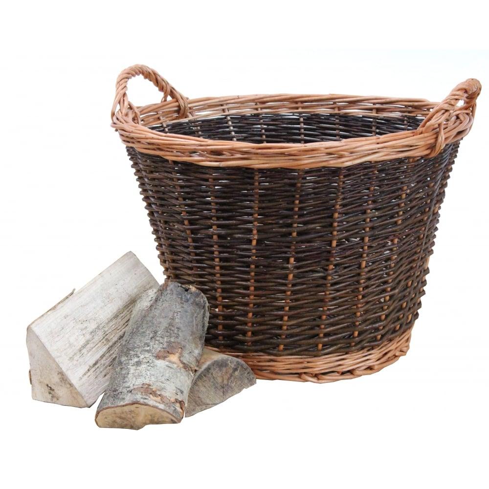 Buy Coniston Wicker Storage Basket: Buy Classic Round Wicker Log Basket Online From The Basket