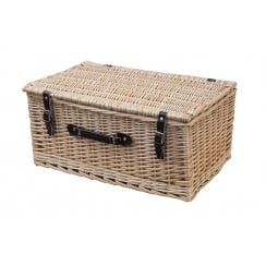 Classic Wicker Storage Trunk - Hamper Basket