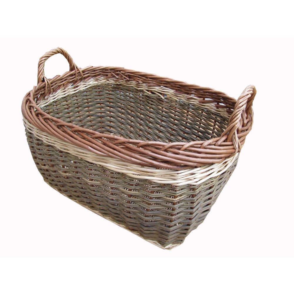 Wicker storage basket home storage baskets melbury rectangular wicker - Coniston Wicker Storage Basket Log Basket