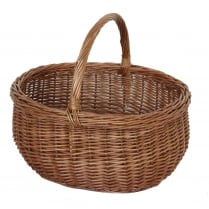 Deluxe Oval Large Wicker Shopping Basket
