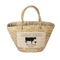 Farmers Market Woven Shopping Bag