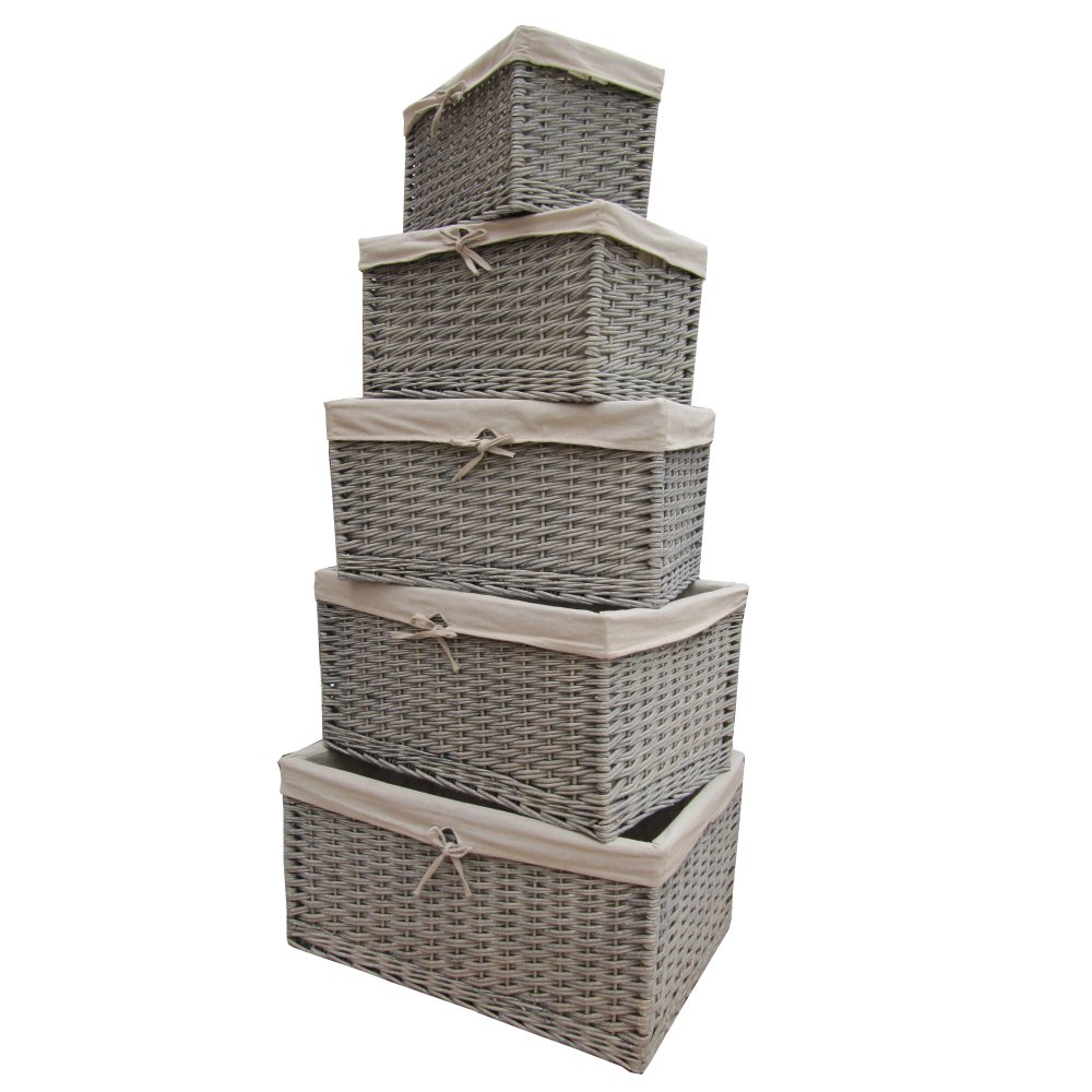 Grey Wicker Basket Uk : Buy grasmere grey wash wicker storage basket from the