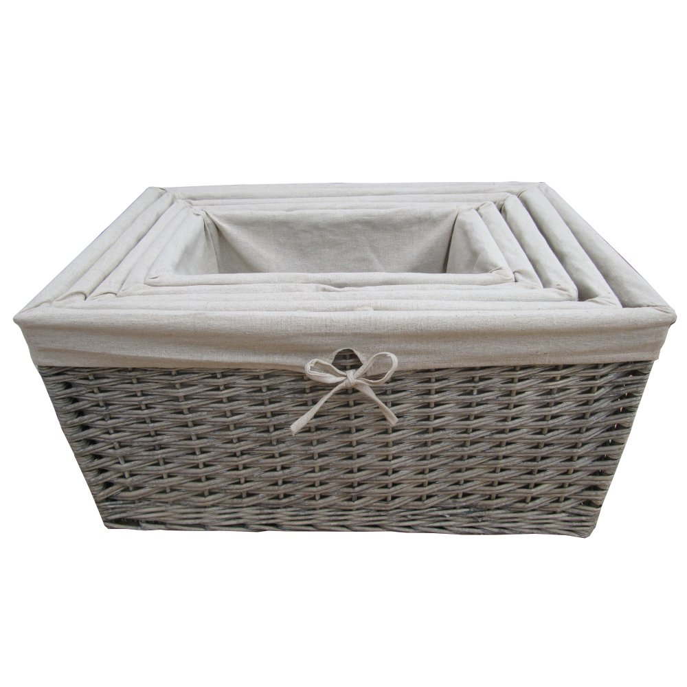 Buy Grasmere Grey Wash Wicker Storage Basket From The