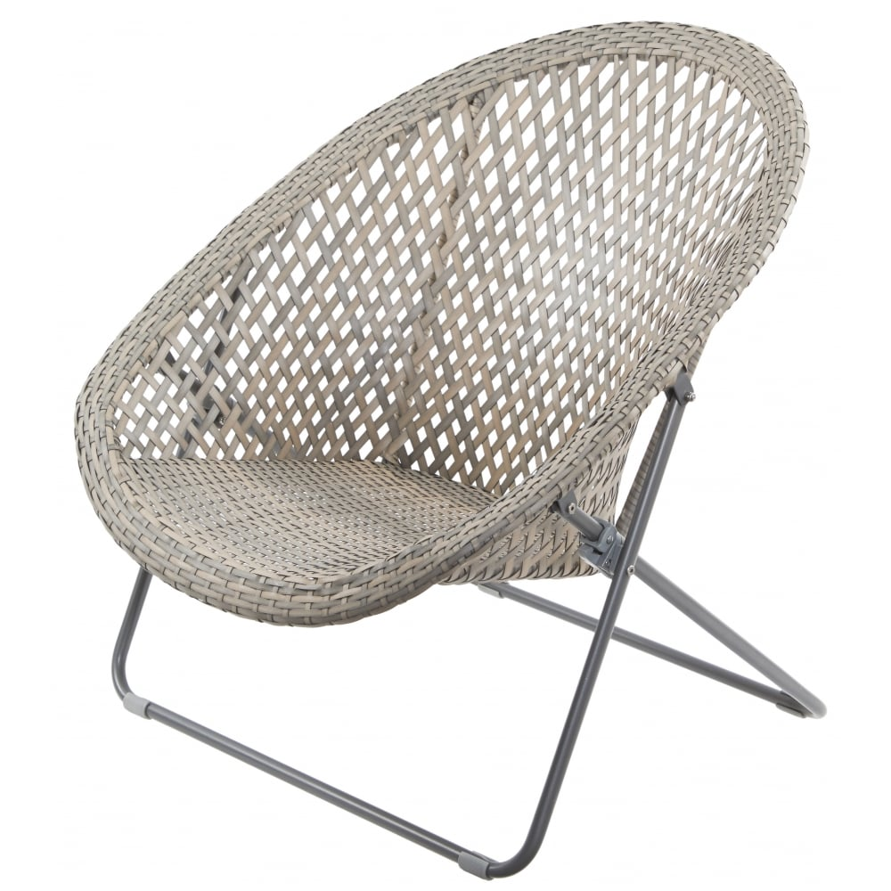 Grey Amp Buff Faux Rattan Garden Chair Amp Table Set