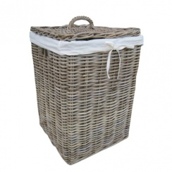 Wicker Baskets Made From Willow Seagrass Rattan