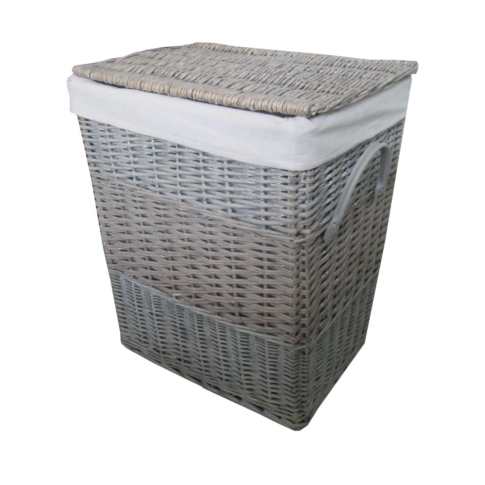 buy antique wash square wicker laundry basket from the. Black Bedroom Furniture Sets. Home Design Ideas