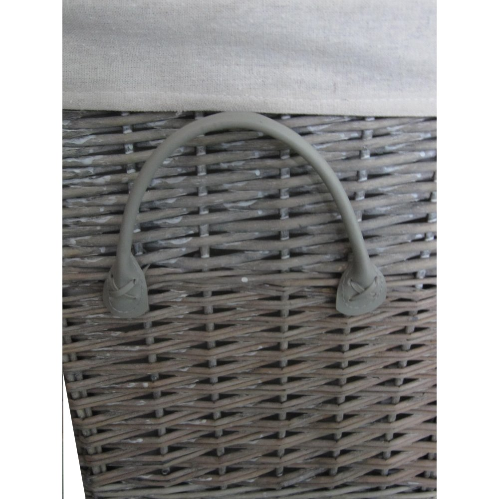 Buy Grasmere Grey Wash Wicker Storage Basket From The: Buy Antique Wash Square Wicker Laundry Basket From The