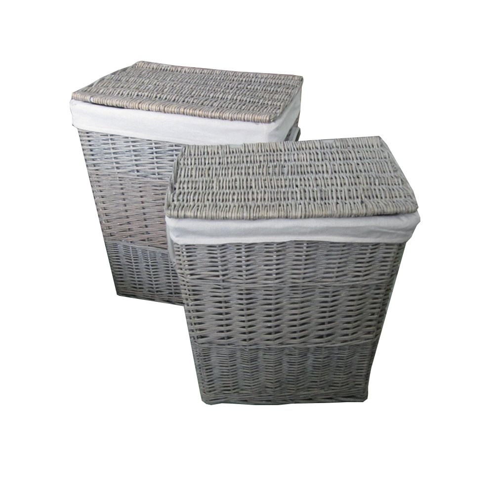 Grey Wash Wicker Storage Basket: Buy Antique Wash Square Wicker Laundry Basket From The