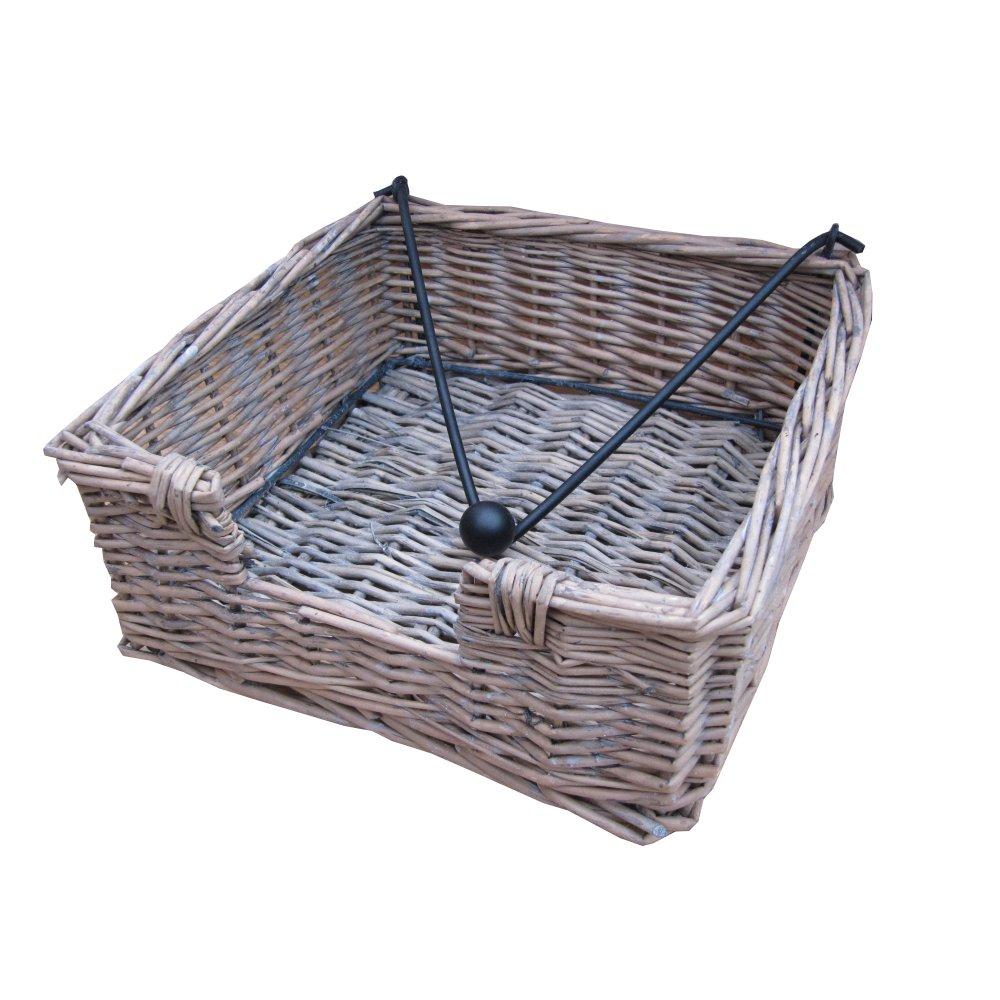 Grey Wash Wicker Storage Basket: Buy Grey Wash Wicker Napkin Holder Basket From The Basket
