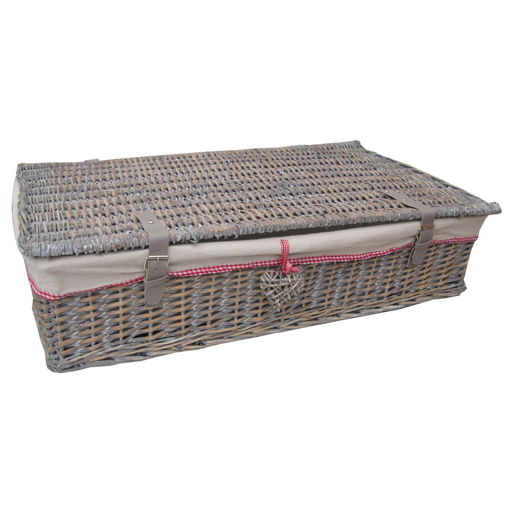 Buy Grey Wash Wicker Underbed Storage Baskets From The