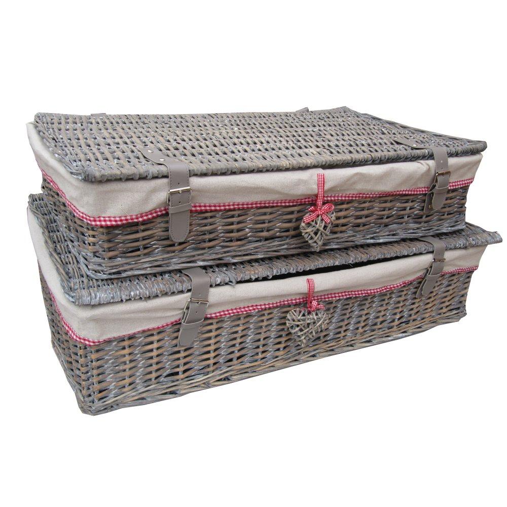 Grey Wash Wicker Storage Basket: Buy Grey Wash Wicker Underbed Storage Baskets From The