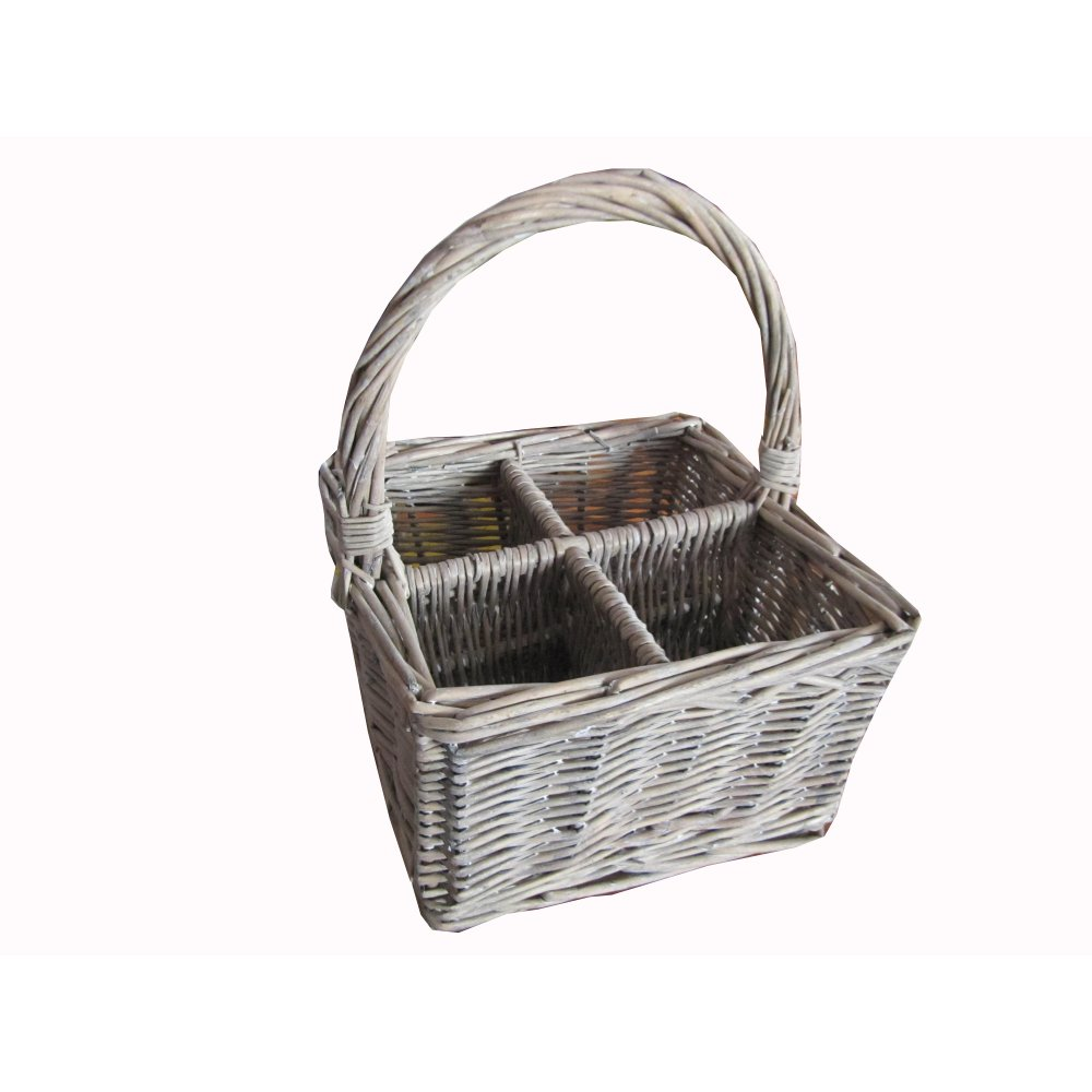 Grey Wicker Basket Uk : Buy grey wash wicker cutlery basket from the