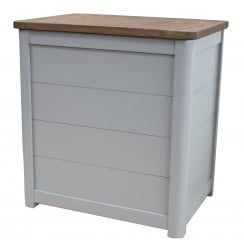 Grey Wooden Laundry Bin