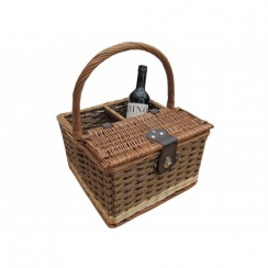 Hambledon Wicker Picnic Basket & Wine Carrier Basket