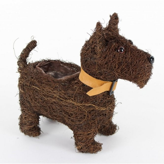 """Hamish"" The Scottie Dog Terrier Planter"