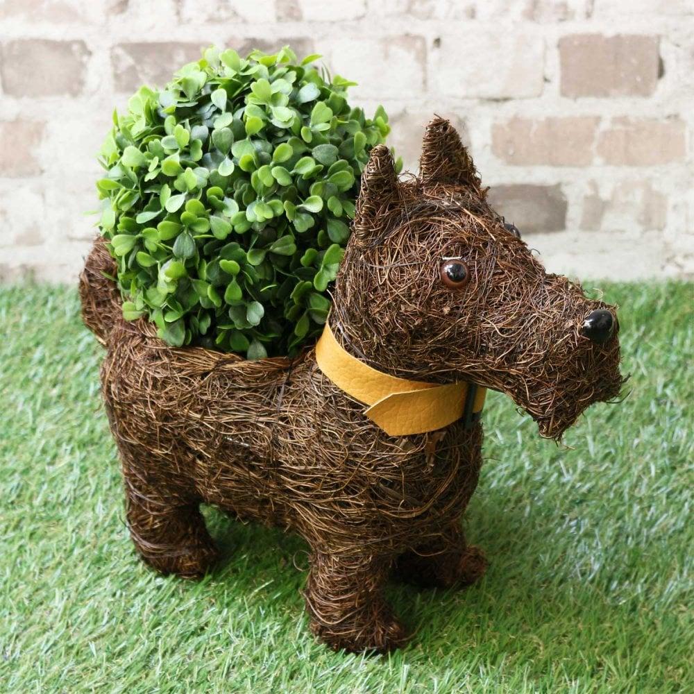 Hamish The Scottie Dog Terrier Planter