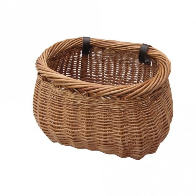 Heritage Wicker Bicycle Basket With Adjustable Straps