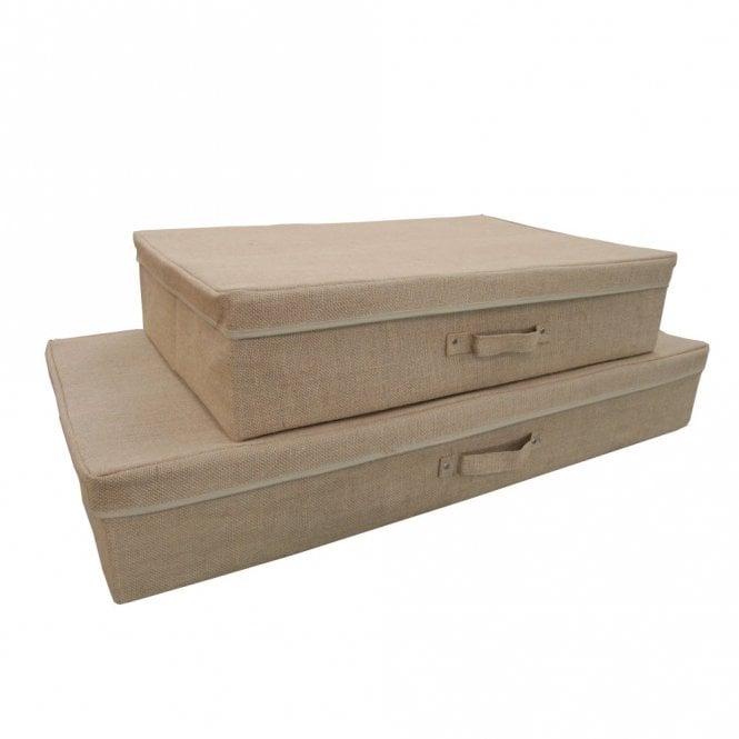 Hessian Under Bed Storage Box