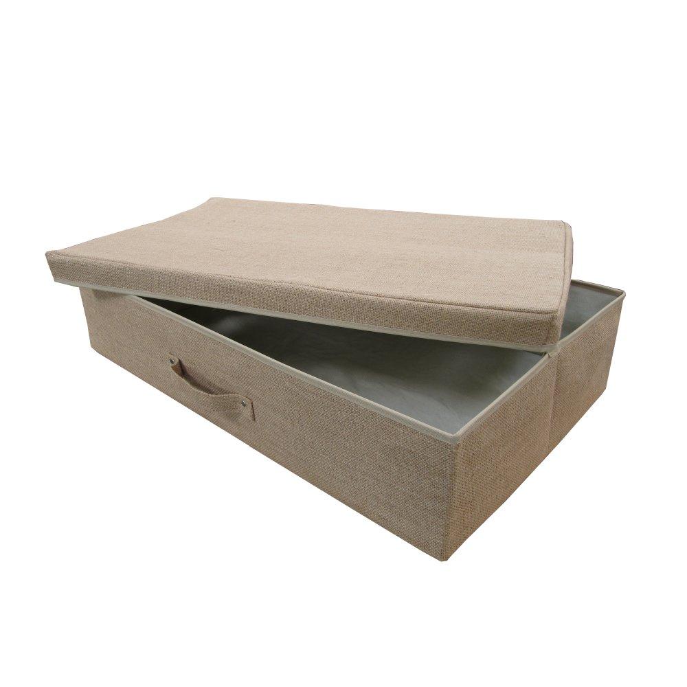 hessian under bed storage box. Black Bedroom Furniture Sets. Home Design Ideas