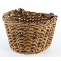 Honey Rattan Wicker Bicycle Basket With Adjustable Straps